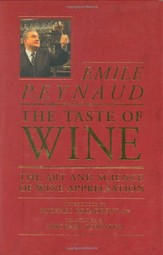 Taste of Wine The Art and Science of Wine Appreciation  1987 (Reprint) edition cover