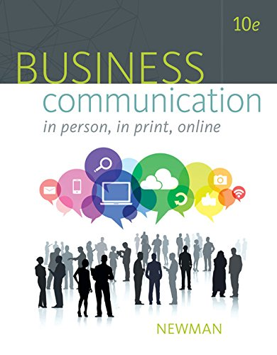 Business Communication: In Person, in Print, Online  2016 9781305500648 Front Cover