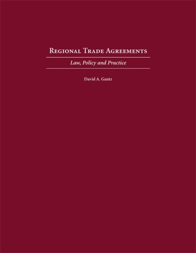 Regional Trade Agreements Law, Policy and Practice N/A edition cover
