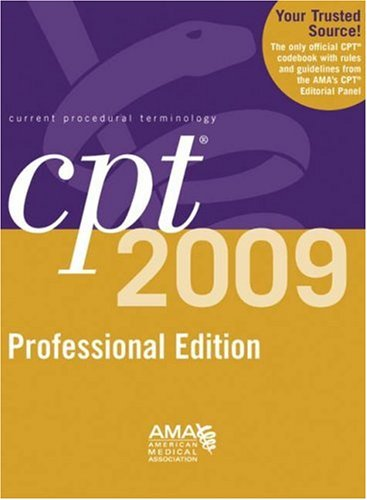 CPT Professional Edition Current Procedural Terminology  2009 edition cover