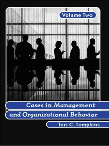 Cases in Management and Organizational Behavior   2002 edition cover