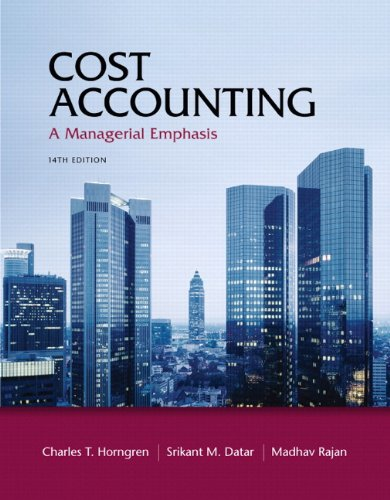 Cost Accounting  14th 2012 edition cover