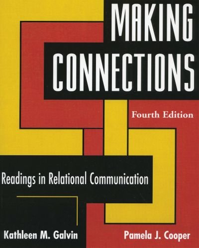 Making Connections Readings in Relational Communication 4th 2006 edition cover
