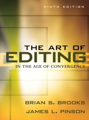 Art of Editing in the Age of Convergence  9th 2009 edition cover