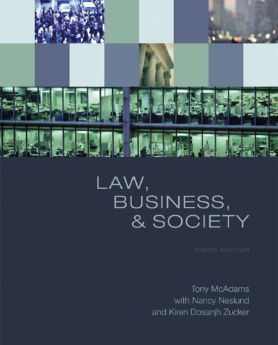 Law, Business, and Society  9th 2009 edition cover