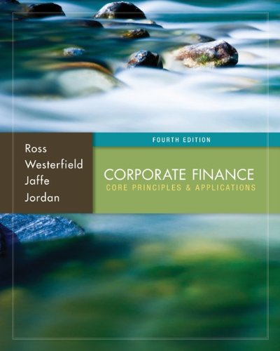 Corporate Finance Core Principles and Applications 4th 2014 edition cover