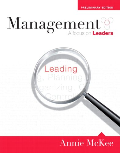 Management A Focus on Leaders  2011 9780132128650 Front Cover