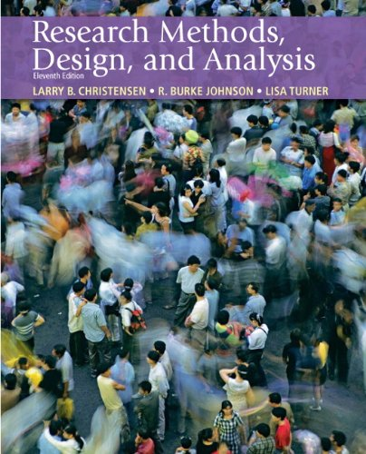 Research Methods, Design, and Analysis  11th 2011 edition cover
