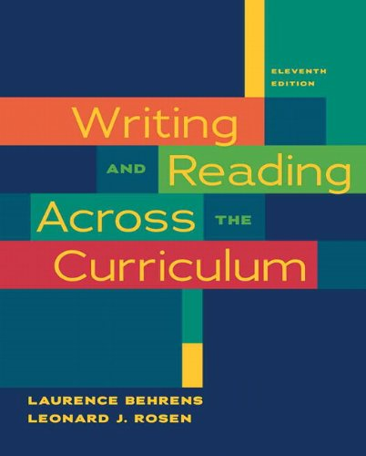Writing and Reading Across the Curriculum  11th 2011 edition cover
