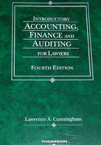 Introductory Accounting and Finance for Lawyers  4th 2004 (Revised) edition cover