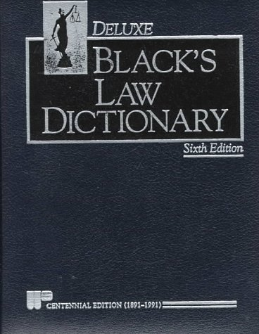 Black's Law Dictionary 6th (Reprint) 9780314771650 Front Cover