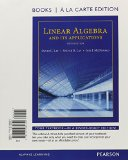 Linear Algebra and Its Applications: Books a La Carte Edition  2015 edition cover