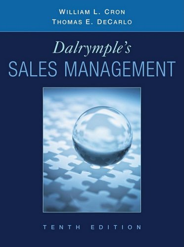 Dalrymple's Sales Management Concepts and Cases 10th 2009 9780470169650 Front Cover