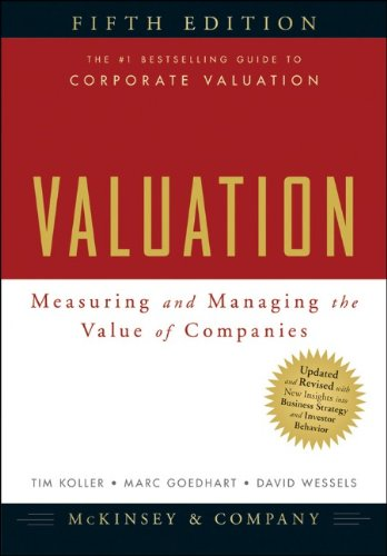 Valuation Measuring and Managing the Value of Companies 5th 2010 edition cover
