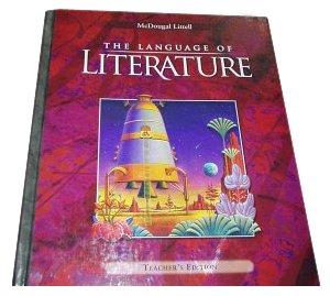 Language of Literature  Teachers Edition, Instructors Manual, etc. 9780618136650 Front Cover