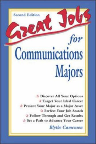 Great Jobs for Communications Majors  2nd 2002 (Revised) edition cover