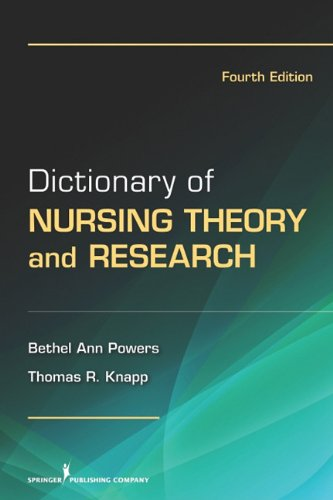 Dictionary of Nursing Theory and Research  4th 2011 edition cover