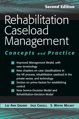Rehabilitation Caseload Management Concepts and Practice 2nd 2005 edition cover