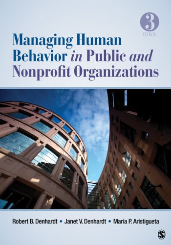 Managing Human Behavior in Public and Nonprofit Organizations  3rd 2013 edition cover