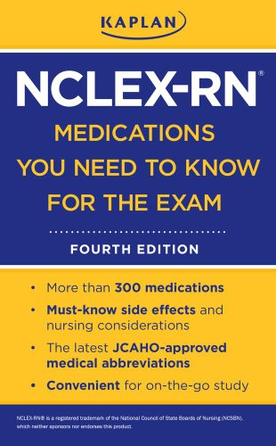 NCLEX-RN Medications You Need to Know for the Exam  4th edition cover