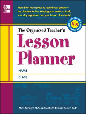 Organized Teacher's Lesson Planner   2012 edition cover