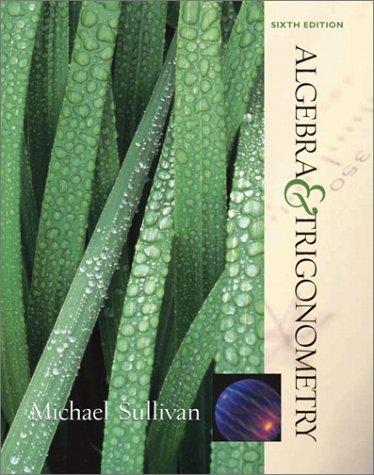 Algebra and Trigonometry  6th 2002 edition cover