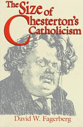 Size of Chesterton's Catholicism   1998 edition cover