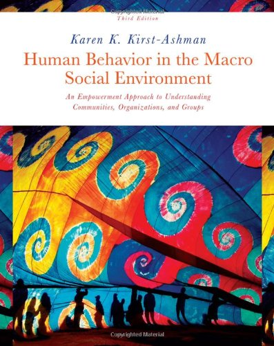 Human Behavior in the Macro Social Environment  3rd 2011 edition cover
