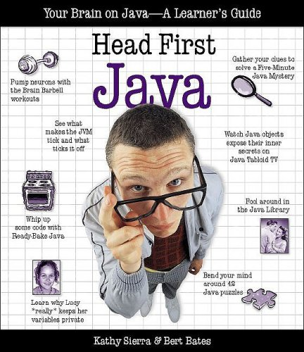 Head First Java Your Brain on Java- A Learner's Guide  2003 9780596004651 Front Cover