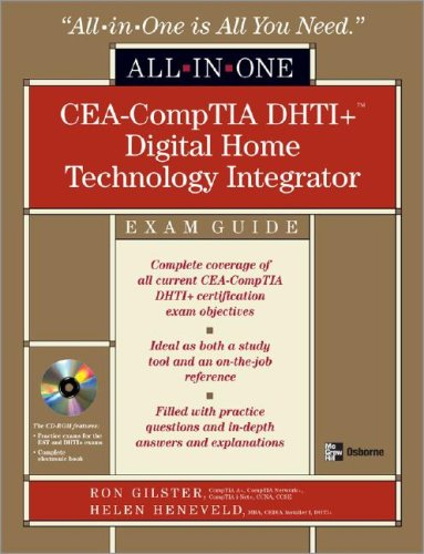 CEA-CompTIA DHTI+ Digital Home Technology Integrator  2nd 2009 (Revised) edition cover