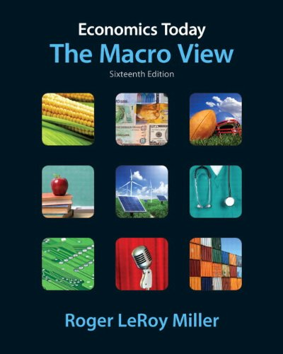 Economics Today The Macro View plus MyEconLab with Pearson Etext Student Access Code Card Package 16th 2012 (Revised) edition cover