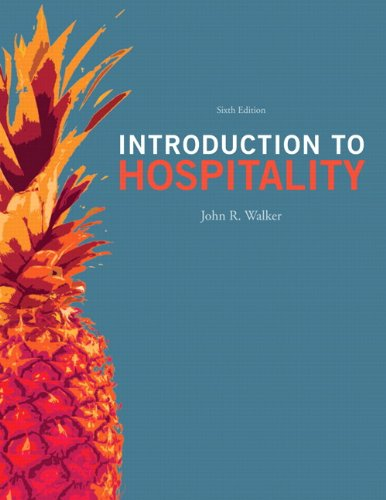 Introduction to Hospitality  6th 2013 (Revised) edition cover