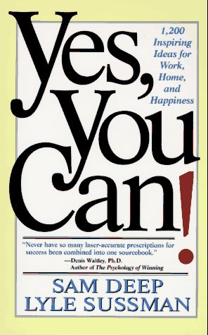 Yes, You Can! 1,200 Inspiring Ideas for Work, Home, and Happiness  1996 edition cover