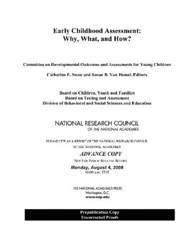 Early Childhood Assessment Why, What, and How  2008 edition cover