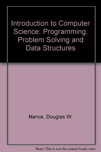 Introduction to Computer Science Programming, Problem Solving and Data Structure 3rd 1995 (Alternate) 9780314045652 Front Cover