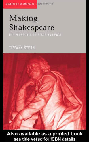 Making Shakespeare From Stage to Page  2004 edition cover