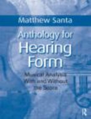 Anthology for Hearing Form   2010 edition cover