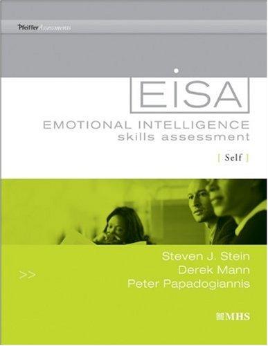 Eisa - Emotional Intelligence Skills Assessment: Self   2010 edition cover