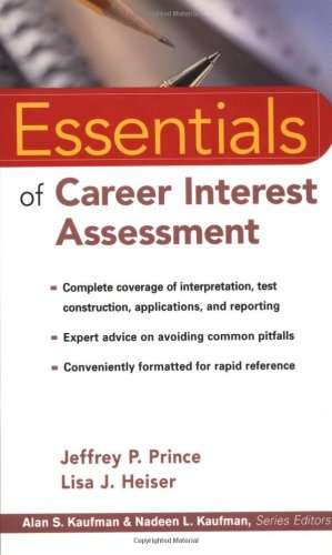 Essentials of Career Interest Assessment   2000 edition cover