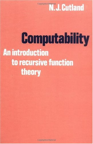 Computability An Introduction to Recursive Function Theory  1980 edition cover