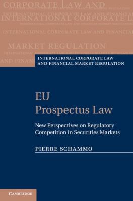 EU Prospectus Law New Perspectives on Regulatory Competition in Securities Markets  2011 9780521517652 Front Cover