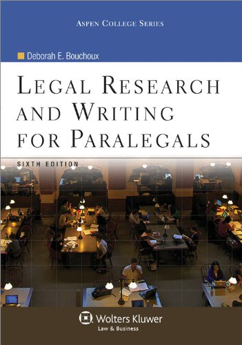 Legal Research and Writing for Paralegals 6e  6th 2011 (Revised) edition cover