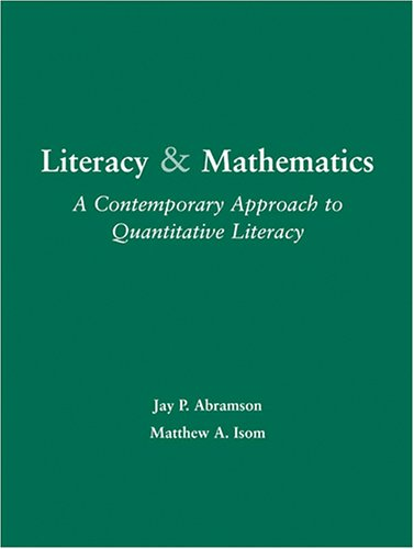 Literacy and Mathematics : A Contemporary Approach to Quantitative Literacy Revised 9780757521652 Front Cover
