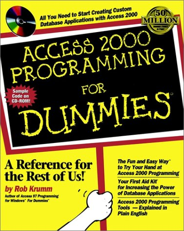 Access 2000 Programming for Dummies�   1999 9780764505652 Front Cover