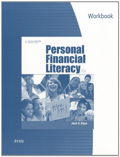 Workbook for Ryan's Personal Financial Literacy, 2nd  2nd 2012 edition cover