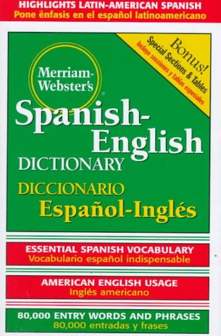 Merriam-Webster's Spanish-English Dictionary   2003 9780877791652 Front Cover
