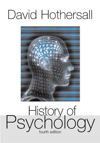 History of Psychology  4th 2004 (Revised) edition cover