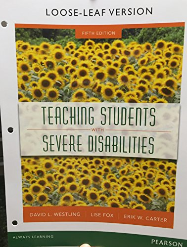 TEACHING STUD.W/SEVERE DISABIL N/A edition cover
