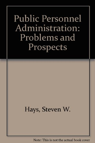 Public Personnel Administration 2nd 1990 9780137388653 Front Cover