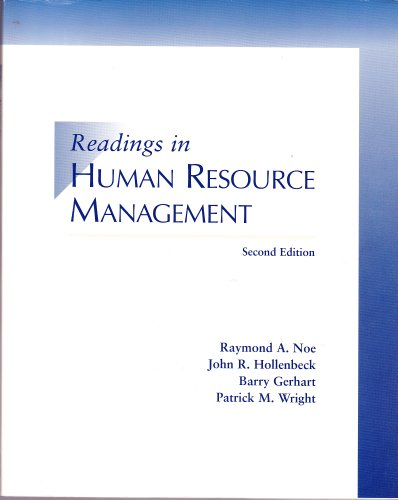 Readings in Human Resource Management 2nd 1997 9780256258653 Front Cover